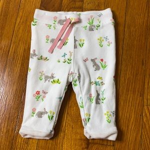 Baby Boden Reversible Pants With Bunnies - 3/6M